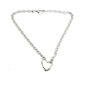 Collier coeur et diamants diamants chaude 585-DN010 Hot Diamonds