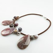 NECKLACE CORD AND AGATE INDIA PATRICIA GARCIA BUC260