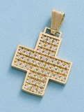 NECKLACE CROSS GOLD - OWN - 2674-CIRCUSES