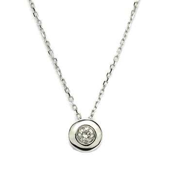 NECKLACE WITH A DIAMOND OF 0.08 CTS AND WHITE GOLD 18KTES. 40CM NEVER SAY NEVER