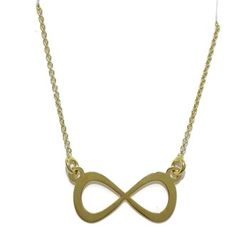 NECKLACE OF 18K YELLOW GOLD WITH INFINITE PLANE OF 2.00 CM WIDE AND 1.00 CM HIGH. CHAIN ROLO NEVER SAY NEVER