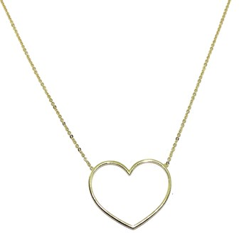 COLLAR YELLOW GOLD 18KTES WITH SUPER HEART. 42CM NEVER SAY NEVER
