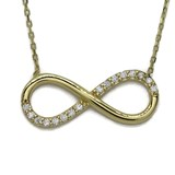 NECKLACE INFINITY GOLD YELLOW 18KTES AND ZIRCONS. NEVER SAY NEVER