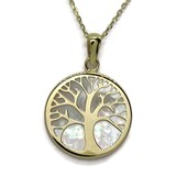 COLLAR YELLOW GOLD 18KTES AND MOTHER-OF-PEARL TREE OF LIFE. 40CM NEVER SAY NEVER