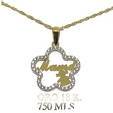 NECKLACE YELLOW GOLD AND WHITE 18KTES MOTHER'S DAY SPECIAL. 40CM LONG, NEVER SAY NEVER