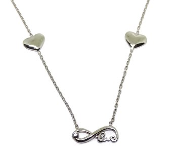 COLLAR WHITE GOLD 18KTES WITH INFINITE NEVER SAY NEVER