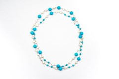 Cultured Pearl and turquoise necklace
