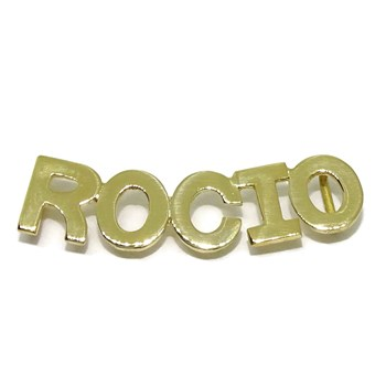 NECKLACE CUSTOM NAME YELLOW GOLD 18KTES WITH CHAIN ROLO YELLOW GOLD 18KTES NEVER SAY NEVER