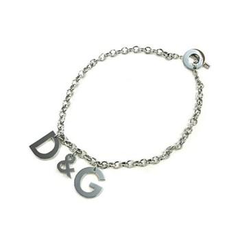 Chaîne collier DG unisexe en acier suspendus lettres DJ0107 D&G