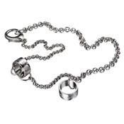 Cadena Collar DG unisex acero anillos grabados DJ0402 D&G