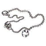 CHAIN NECKLACE UNISEX DG STEEL ENGRAVED RINGS DJ0402 D&G