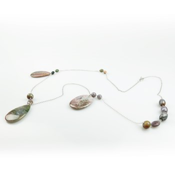 NECKLACE STRUNG WITH PENDANTS OF AGATE INDIA PATRICIA GARCIA BUC259