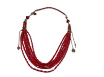 NECKLACE RED EXOAL 1904-2-11