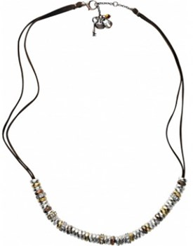 FOSSIL LADY TRICOLOR BROWN JA03675 CORD NECKLACE