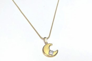 COLLAR CHOKER NECKLACE GOLD MOON - OWN -