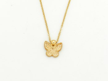 COLLAR CHOKER NECKLACE GOLD BUTTERFLY - OWN - AG8609