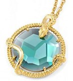 JUST CAVALLI SCABE01 TURQUOISE STONE NECKLACE