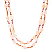 COLLAR LUXENTER STONES COLOR NUDE AND CORAL COLOR NXA097R73000