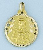 COLLIER MÉDAILLE D'OR - PROPRE - 1578-20X20MM