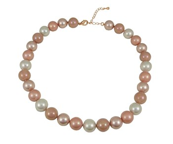 NECKLACE LOMBACDL195129-PINK/WHITE AND DEVOUT WOMAN 8435334800538 DEVOTA & LOMBA