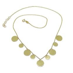 Collar chapitas de Oro 18k para Mujer de 45cm de Largo 4.60gr de Oro de 18k Never say never