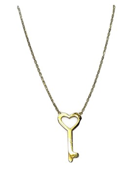 COLLAR YELLOW GOLD 18KTES WITH THE KEY OF LOVE! 45CM NEVER SAY NEVER