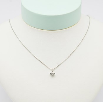 Collier or blanc diamant COLL504 Espaijoia