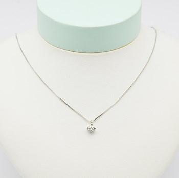 Collar Oro Blanco Diamante COLL505 Espaijoia