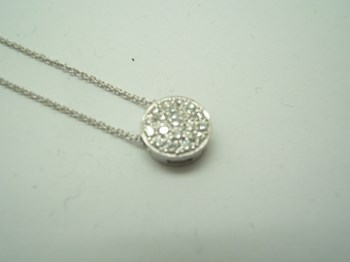 COLLIER EN OR BLANC ET DIAMANTS B-79