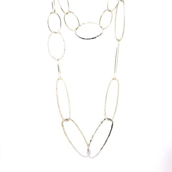 NECKLACE OVALS SILVER  Stradda 15H18-1