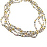 NECKLACE CULTURED PEARL 5 AND 6MM TINTED OF 2M LONG. NEVER SAY NEVER