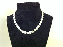 COLLIER DE PERLES NATUREL ET OR 18 CARATS