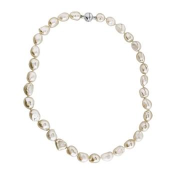 Collier perles baroques et fermeture aimant