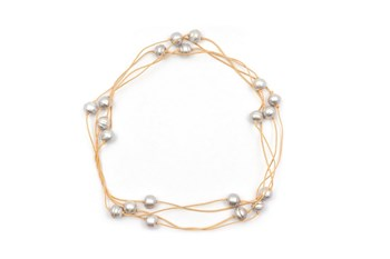 Necklace 20 Cultured Pearl Grey