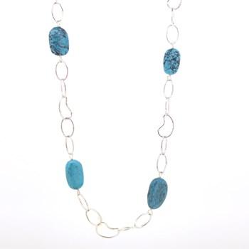 Collar piedra turquesa 15H22-1 Stradda