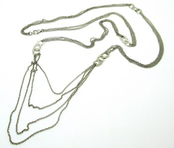 COLLAR PLATA 108 cm