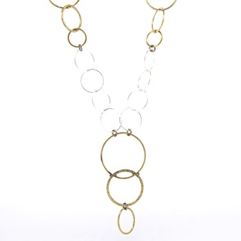 SILVER CIRCLES NECKLACE Stradda 15SR-2