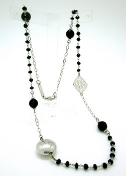 SILVER WITH STONES SPINEL NECKLACE Liska LA6205CL