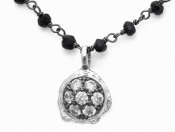 SPINELS AND ZIRCONITAS SILVER NECKLACE 9124CPB Marina Garcia