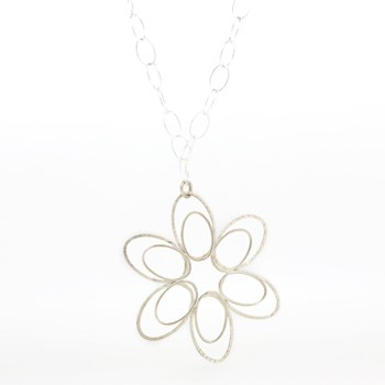 SILVER FLOWER NECKLACE Stradda 15SR-6