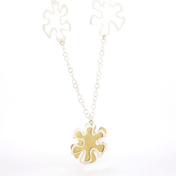 SILVER FLOWER NECKLACE Stradda 15SR-10
