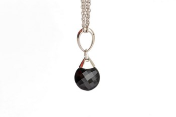 Necklace silver Onyx and law