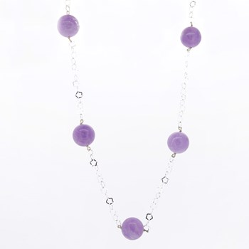 NECKLACE SILVER AND AMETHYST STRADDA 15H24-1