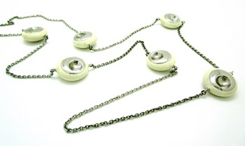 NECKLACE SILVER AND IVORY