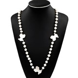 NECKLACE MADE IN STERLING SILVER 925/1000 WITH BEADS FRESH W�TER OF FRESH WATER OF BETWEEN 10 MM 11,50 MM