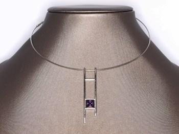 Rigid collar purple