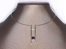Rigid collar purple