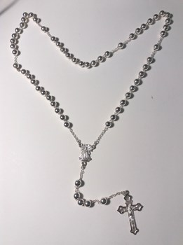 NECKLACE ROSARY SILVER - OWN - 3040-50CMT