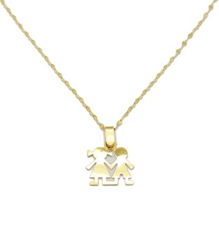 SILHOUETTE NECKLACE GOLD
