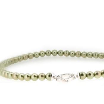 Collier de perles vertes Zinzi  ZIC401OG
